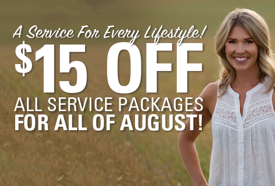 $15 Off All Service Packages 2019