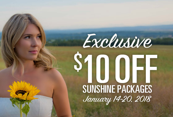 $10 Off Sunshine