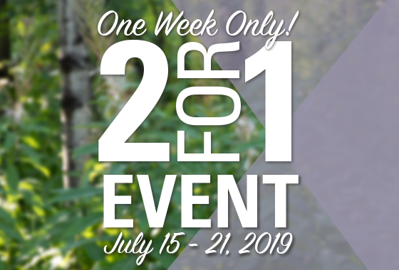 2 for 1 Event - 2019