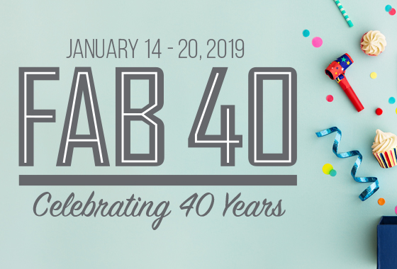 FAB 40 Birthday Deals